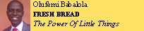 olufemi Babalola FRESH BREAD The Power Of Little Things