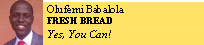 olufemi Babalola FRESH BREAD Yes, You Can!